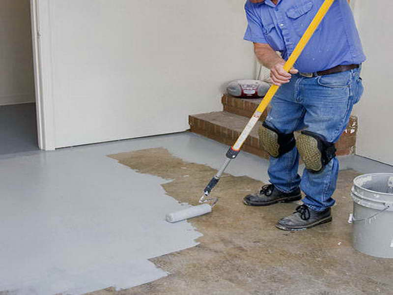 Image of: Diy Basement Floor Paint