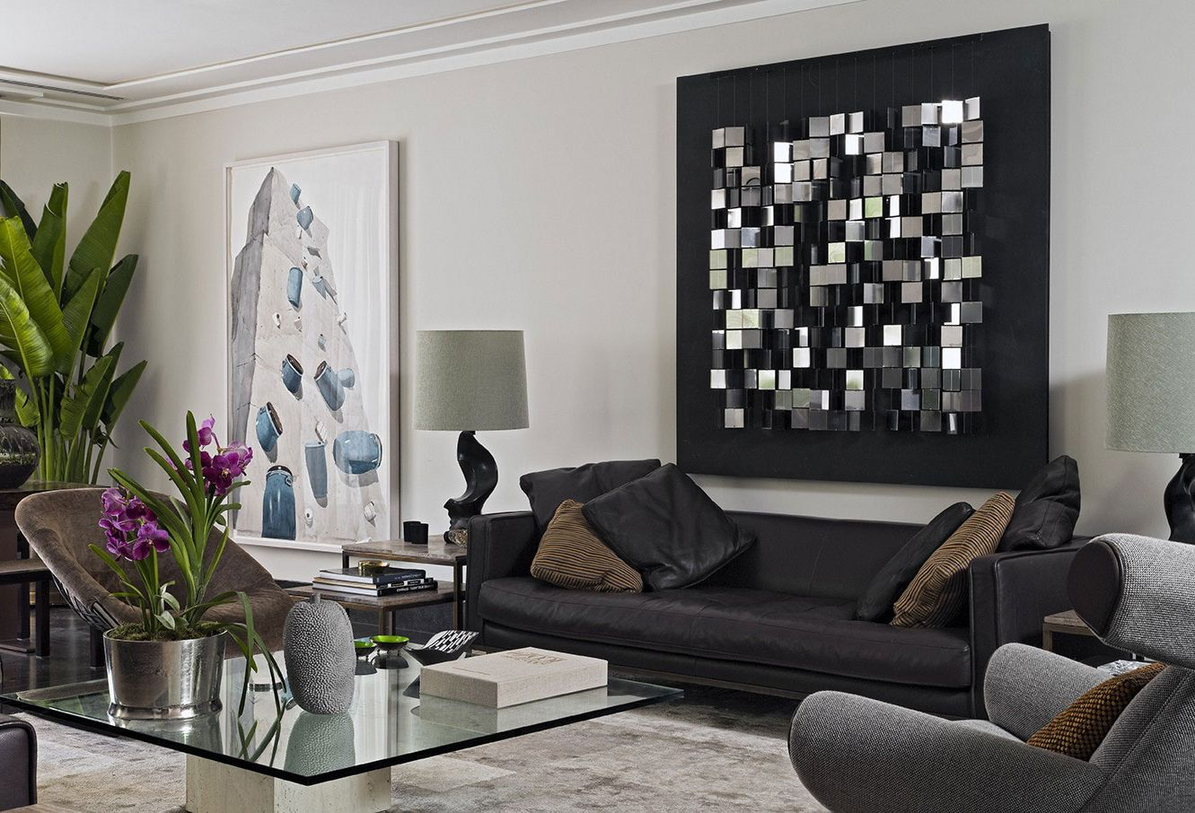 Image of: Great Modern Wall Decor for Living Room