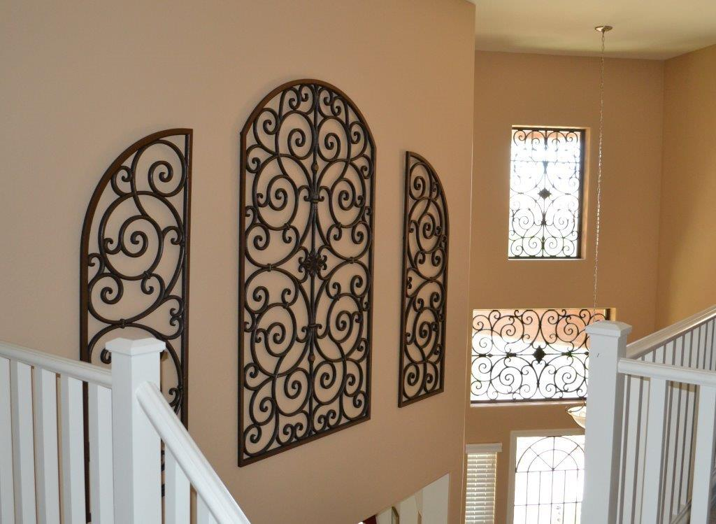 Image of: Interior Large Wrought Iron Wall Decor