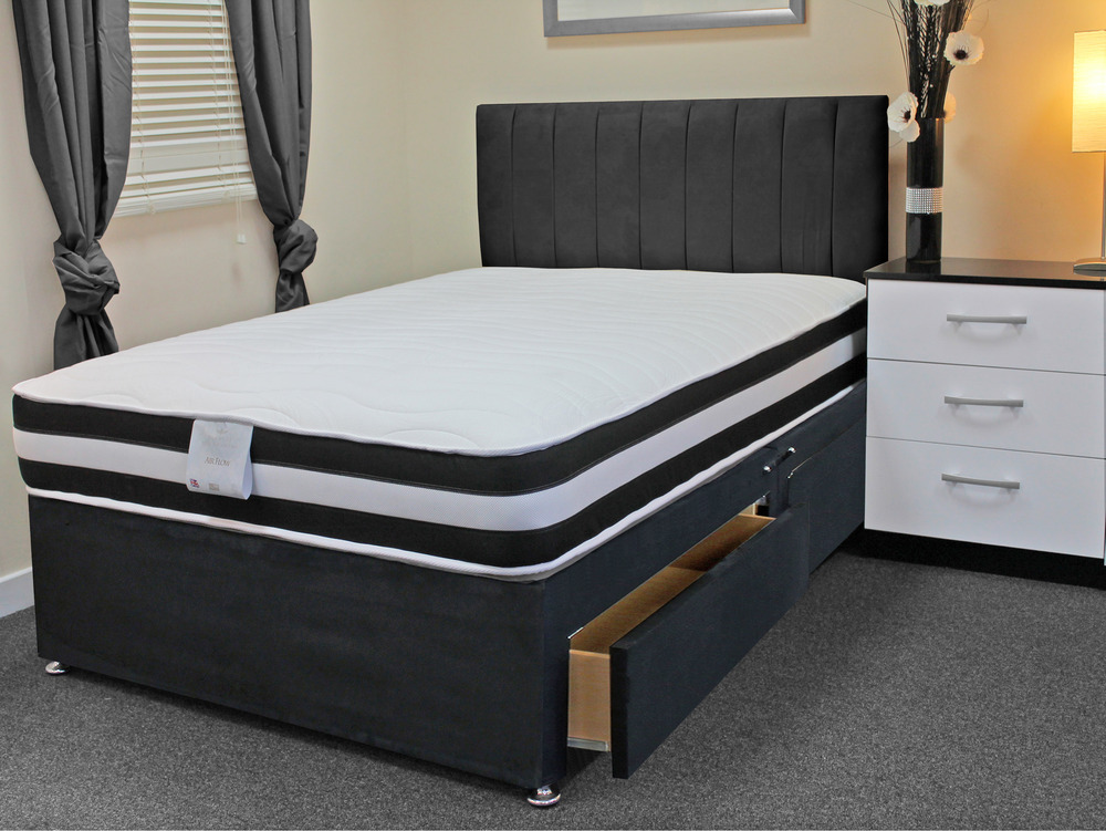 Image of: King Size Air Mattress Black