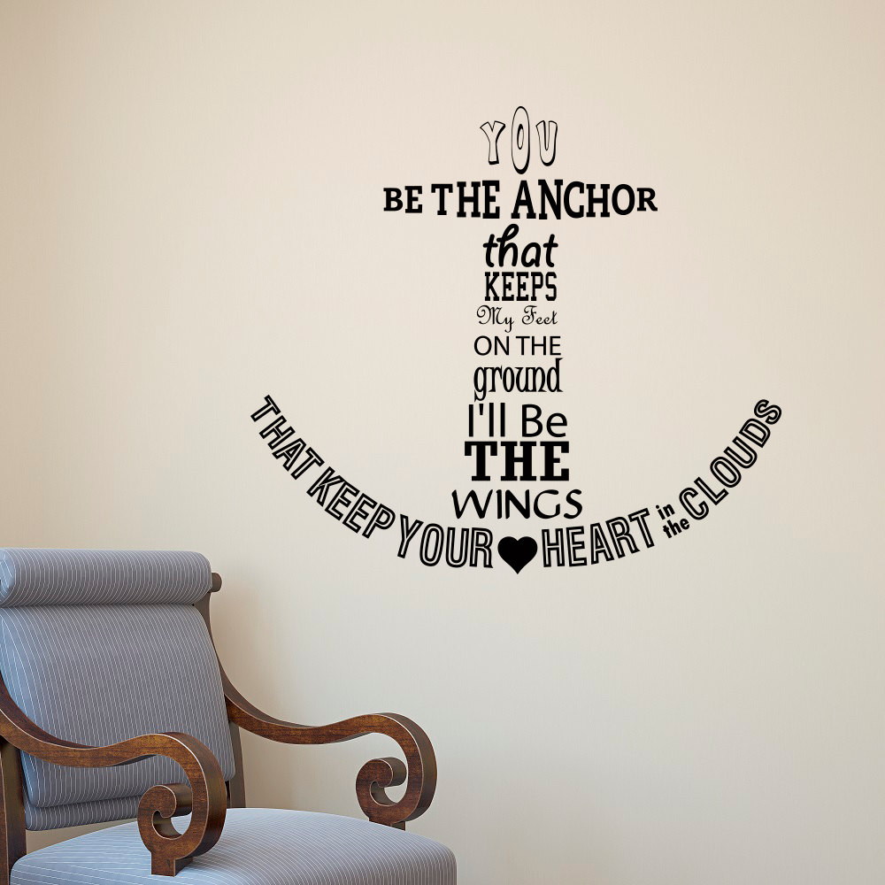 Large Anchor Wall Decor Art