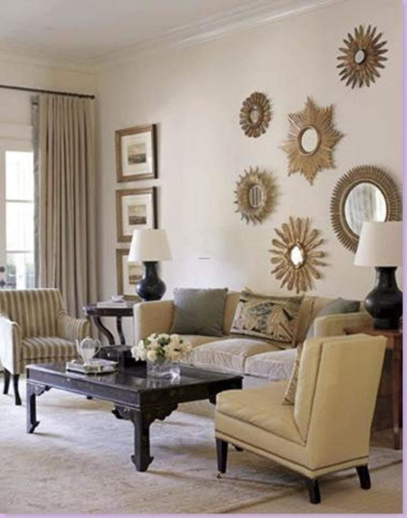 Image of: Large Wall Decor Ideas Mirror