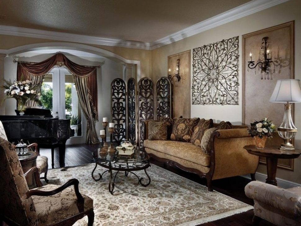 Image of: Large Wrought Iron Wall Decor Living