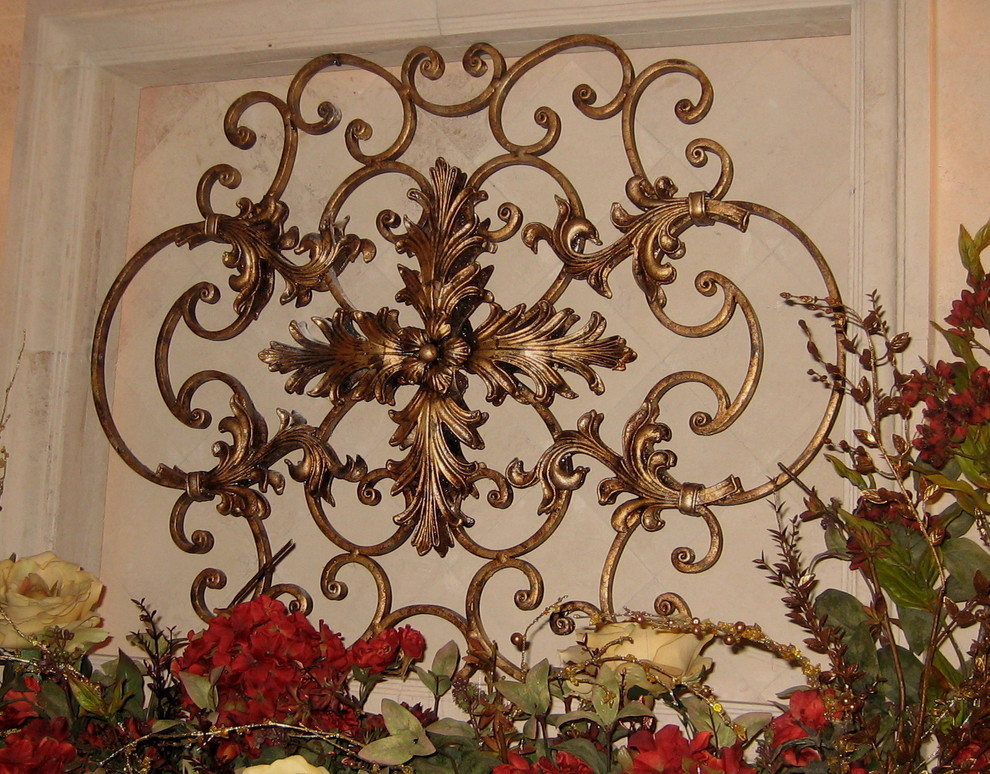 Image of: Large Wrought Iron Wall Decor Paint