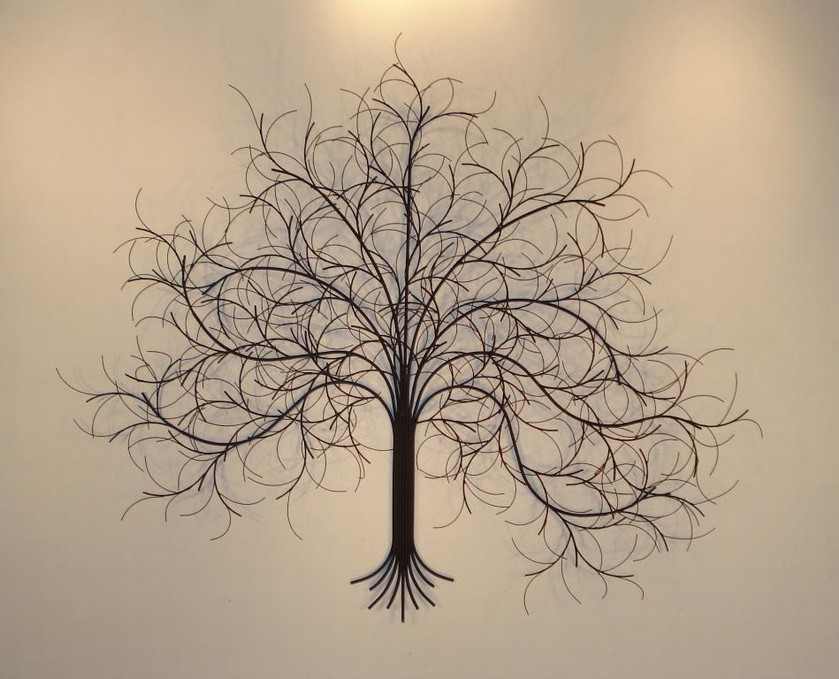 Image of: Large Wrought Iron Wall Decor Tree