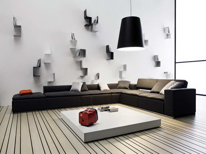 Image of: Luxury Modern Wall Decor for Living Room