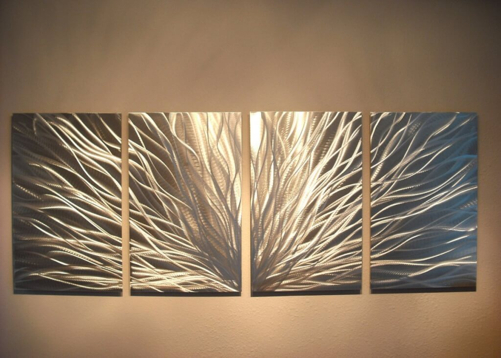 Image of: Modern Metal Wall Art Decor and Sculptures