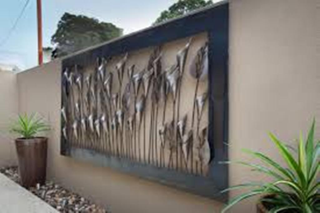 Picture of: Outdoor Metal Wall Decor Metal