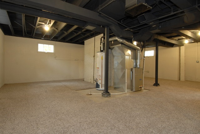 Picture of: Painting Unfinished Basement Walls Wide
