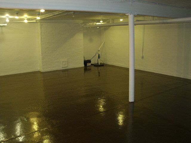 Picture of: Painting Unfinished Basement Walls Yellow