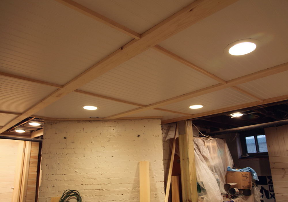 Perfect Cheap Basement Ceiling Ideas