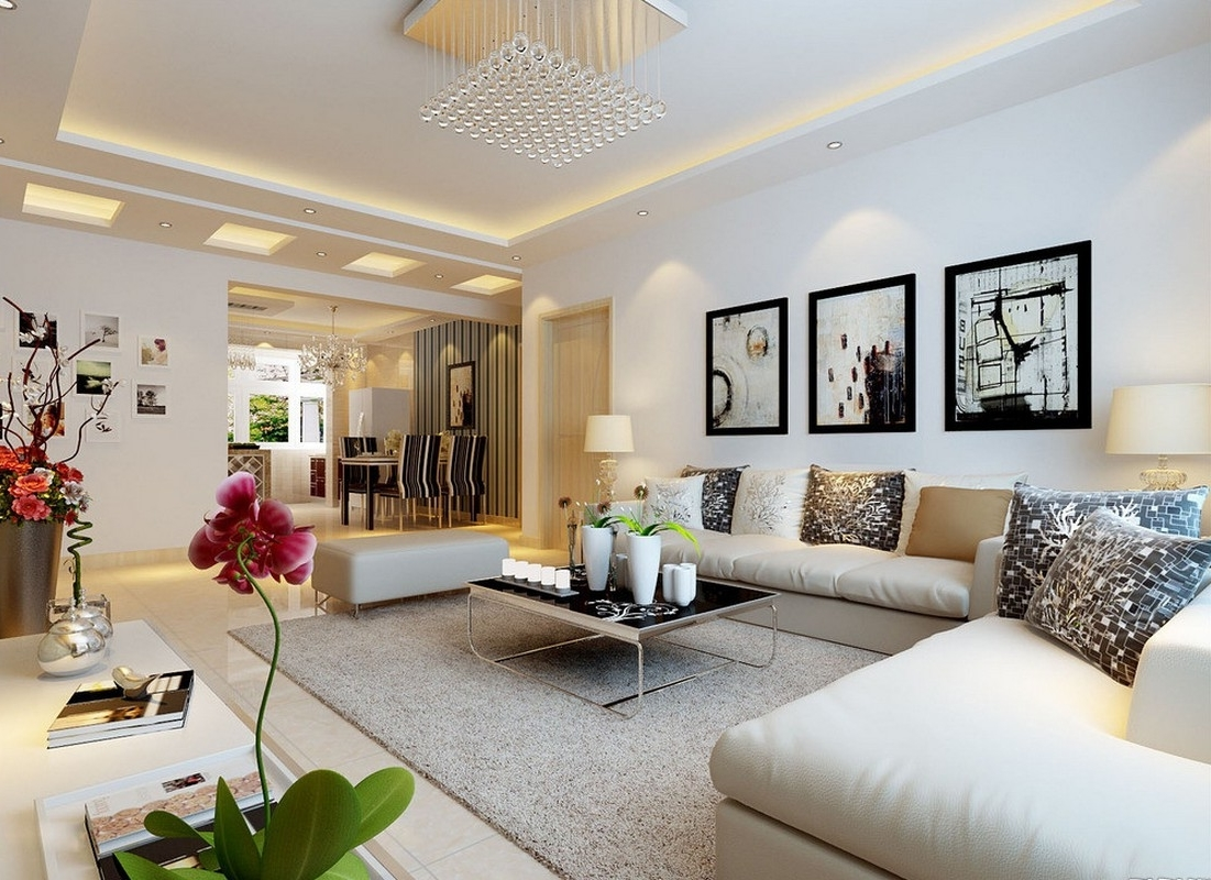 Image of: Perfect Modern Wall Decor for Living Room