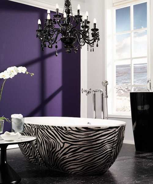 Image of: Purple Bathroom Wall Decor Review
