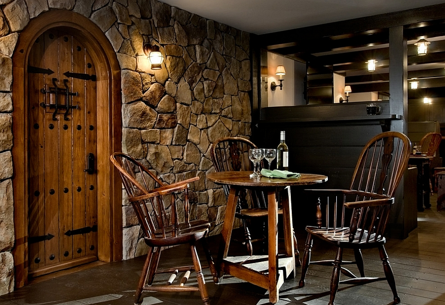 Picture of: Rustic Basement Bar Ideas