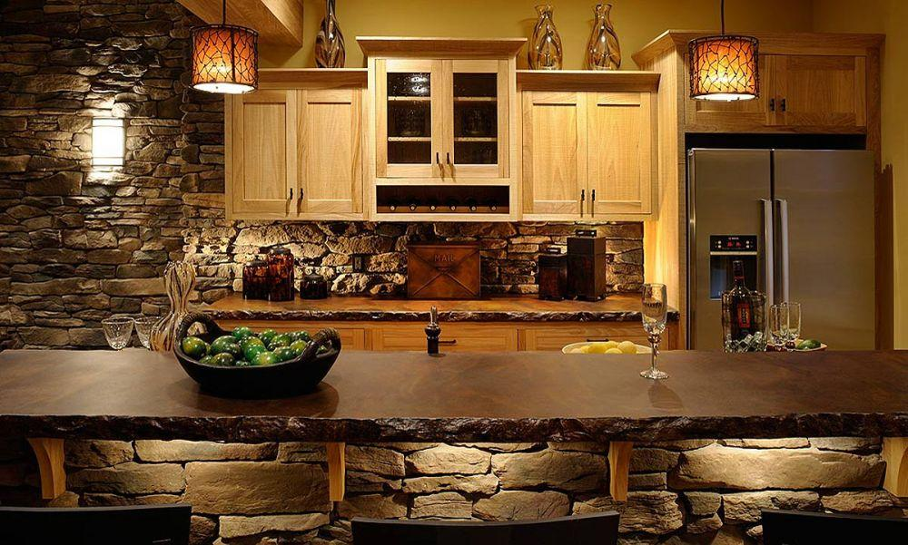 Picture of: Rustic Basement Bar Large