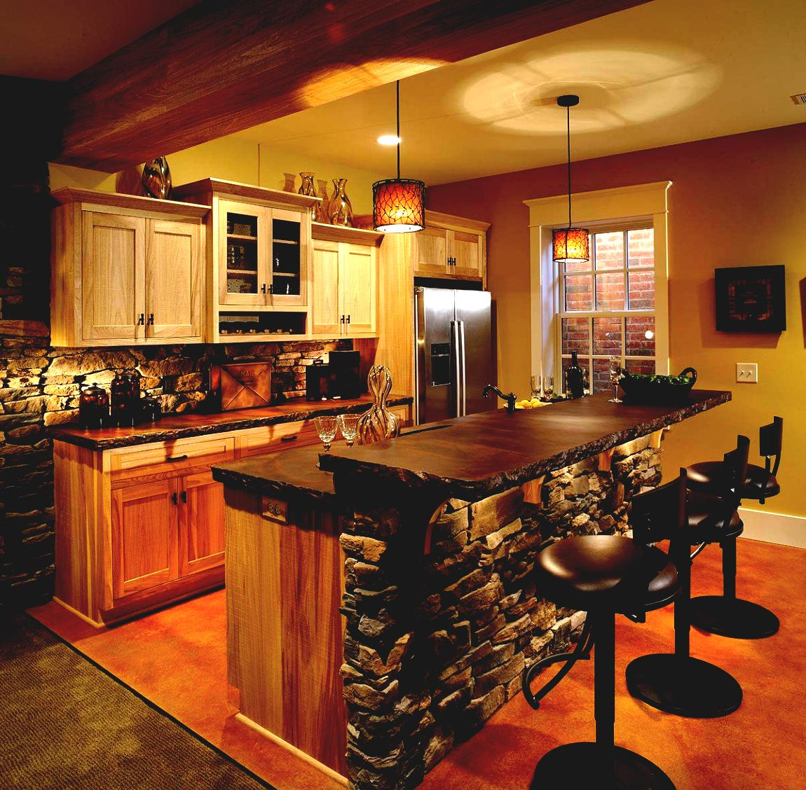 Picture of: Rustic Basement Bar Small