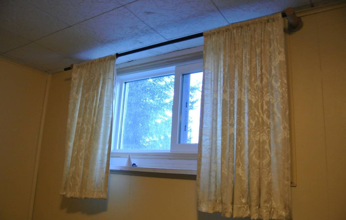 Simple Basement Window Curtains