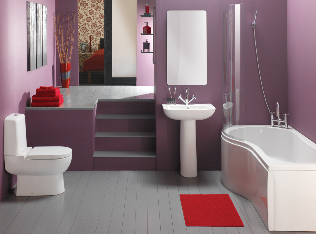 Purple Bathroom Wall Decor Ideas