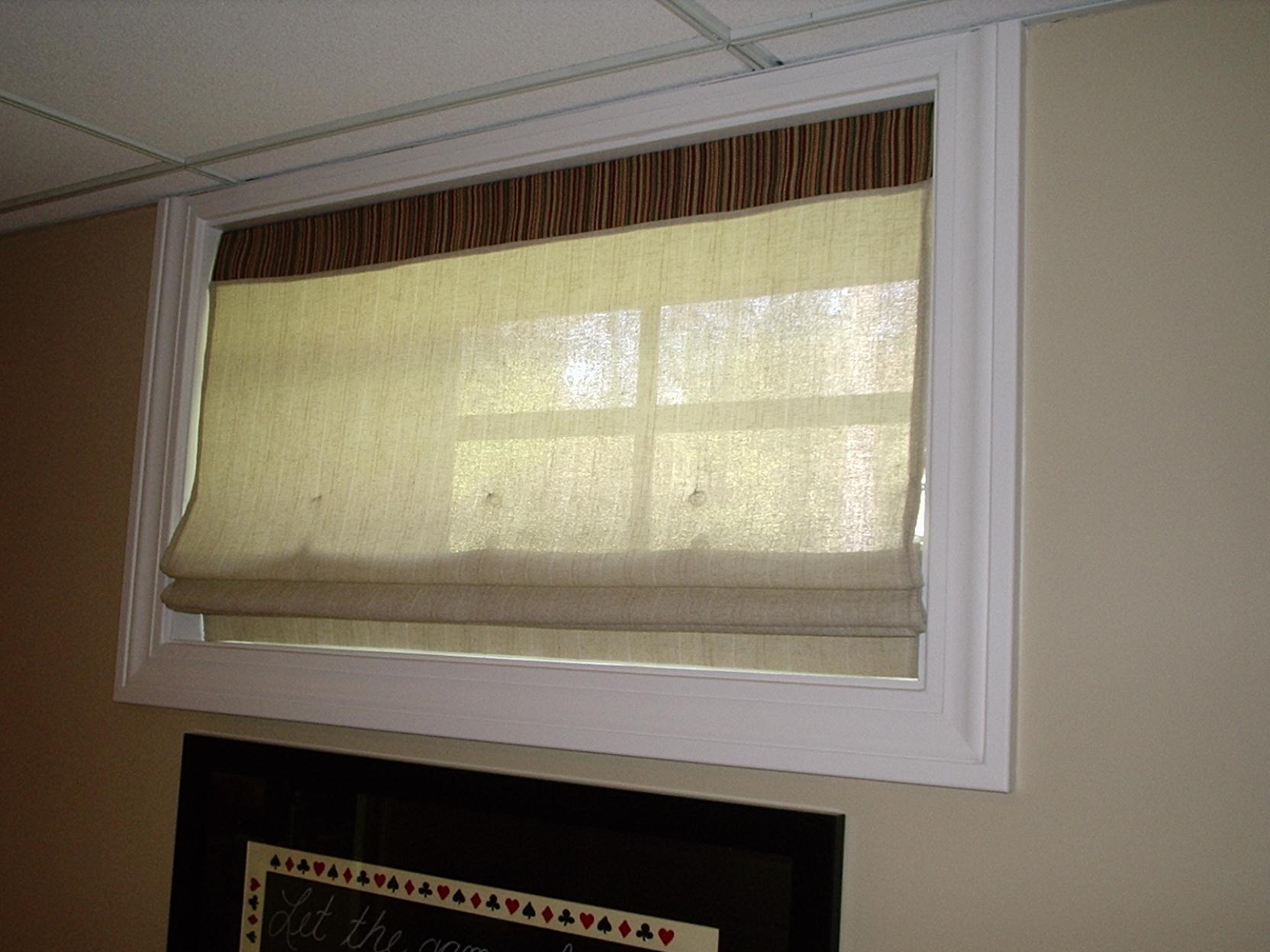 Unique Basement Window Curtains