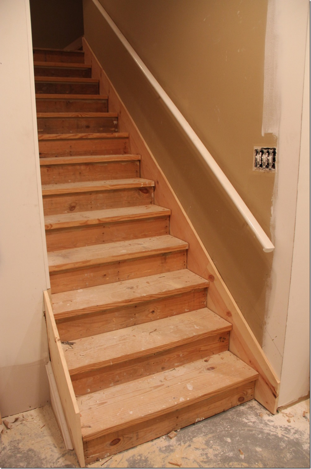 Wood Basement Stairs Design